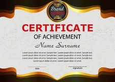Certificate achievement. Elegant template. Reward.   Royalty Free Stock Photo