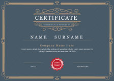 Certificate achievement frame border vector elegant Royalty Free Stock Image