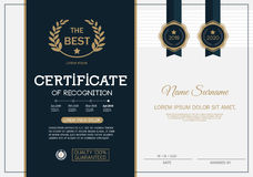 Certificate of achievement frame design template layout template in A4 size Stock Photography