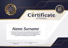Certificate of achievement frame design template layout template in A4 size Stock Images