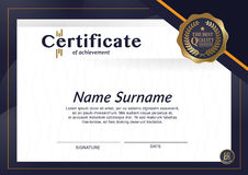 Certificate of achievement frame design template layout template in A4 size Stock Photo