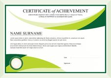Certificate of achievement frame design template Royalty Free Stock Photography