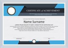 Certificate of achievement frame design template Stock Photos