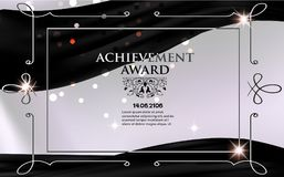 Certificate of achievement sheet. Royalty Free Stock Photography