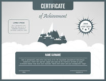 Certificate of achievement template. Certification background. Web cetrificate layout design. Royalty Free Stock Photography