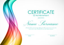 Certificate of achievement template Royalty Free Stock Images