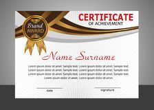 Certificate of achievement template. Elegant design. Vector Royalty Free Stock Images