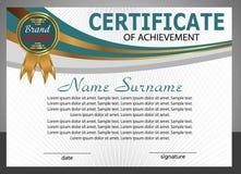 Certificate of achievement template. Elegant design. Vector Royalty Free Stock Image