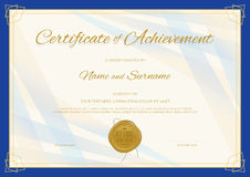 Certificate of Achievement template in modern theme Stock Images