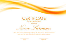 Certificate of achievement template Royalty Free Stock Image
