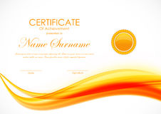 Certificate of achievement template Stock Photos