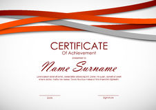 Certificate of achievement template Stock Images