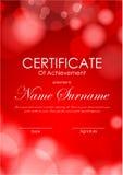 Certificate of achievement template Stock Photos