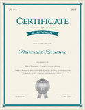 Certificate of achievement template in vector Royalty Free Stock Image