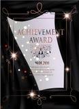 Certificate of achievement vertical sheet. Stock Photo