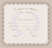 Certificate of adoption Royalty Free Stock Images