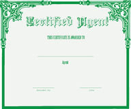 Certificate for the agent Royalty Free Stock Photos