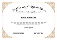 Certificate of Appreciation Stock Photography