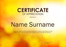 Certificate of appreciation template Royalty Free Stock Photos