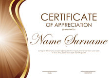 certificate appreciation template gold wavy curved stock.html