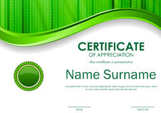 Certificate of appreciation template Stock Photo