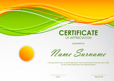 Certificate of appreciation template Royalty Free Stock Photo