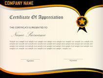 Certificate Appreciation Template Royalty Free Stock Images