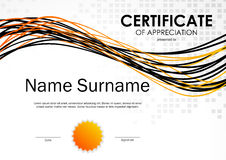 Certificate of appreciation template Royalty Free Stock Image