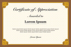 Certificate of Appreciation Vintage Frame Royalty Free Stock Images