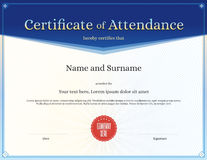 Certificate of attendance template in vector Stock Images