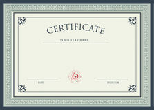 Certificate Of Award Royalty Free Stock Photos