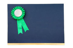 Certificate and award ribbons badge. With white background Royalty Free Stock Images