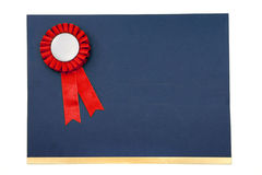 Certificate and award ribbons badge. With white background Stock Image