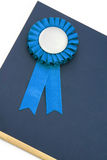 Certificate and award ribbons badge Stock Image