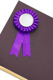 Certificate and award ribbons badge. With white background Royalty Free Stock Photos