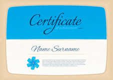 Certificate awards diploma. horizontal in A4 size pattern. stock illustration