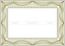 Certificate background Stock Image
