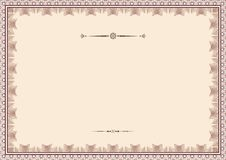 Certificate background templates1 Royalty Free Stock Image