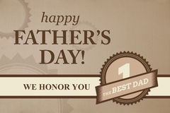 Certificate for best dad Royalty Free Stock Images