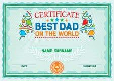 Certificate stock illustration