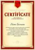 Certificate blank template Stock Image