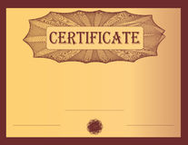 Certificate bordeaux Royalty Free Stock Images