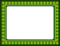 Certificate border. The certificate green colour border  generated by illustration on isolate background Royalty Free Stock Image