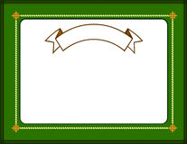 Certificate border Stock Image