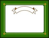 Certificate border Stock Image