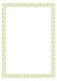 Certificate Border. Rectangle and triangle type of certificate or border royalty free illustration