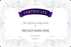 Certificate border, Certificate template. vector illustration Stock Image