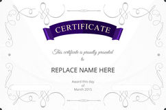 Certificate border, Certificate template. vector illustration Royalty Free Stock Image