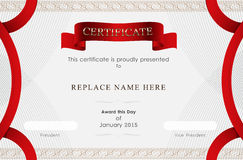 Certificate border, Certificate template. vector illustration Stock Images