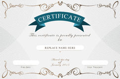 Certificate border, Certificate template. vector illustration Royalty Free Stock Images